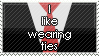 Neckties Stamp by WetWithRain