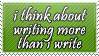 Writing Stamp by WetWithRain