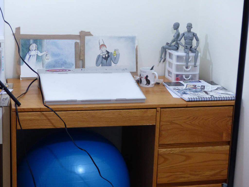 Desk by Hestia-Edwards