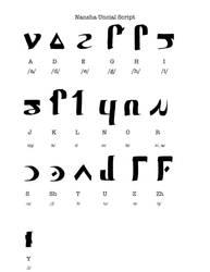 WIP: Nansha Uncial Script 2 by Hestia-Edwards