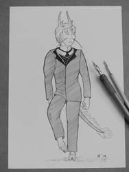 Eli Oldfellow (Elaishar) Character Sketch by Hestia-Edwards