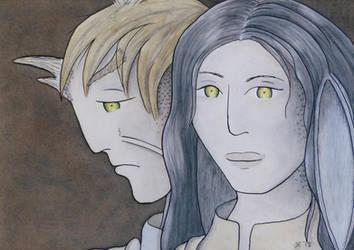 Elaishar and Halaina Portrait by Hestia-Edwards