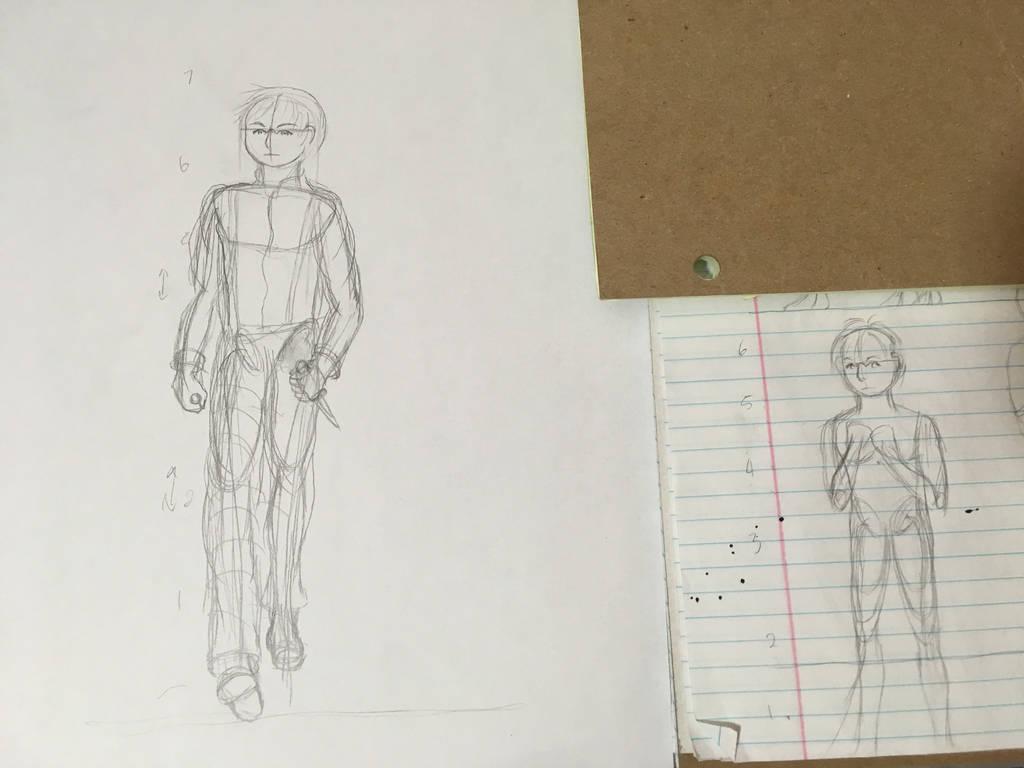 Algernon Sketches by Hestia-Edwards