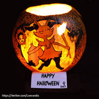 My Braixen Pumpkin by Lexvandis