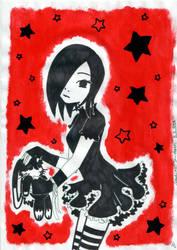 Stuffed Animal: Black Bunny by Lexvandis