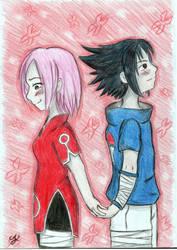 Sasusaku: Fanart (hidden love) by Lexvandis