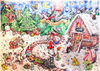 Merry Pokemon Christmas  :) by Lexvandis