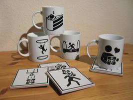 Portal Mugs by WispyChipmunk