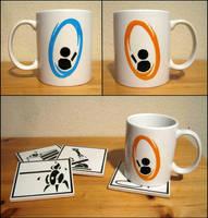 Portal Mug by WispyChipmunk