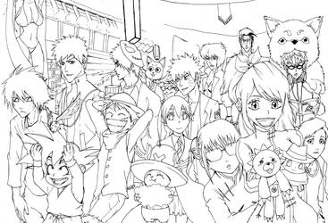 Crossover Night LINEART by WhytManga