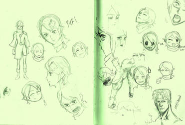 Yuri Sketches by WhytManga