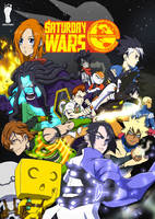 Saturday Wars Manga Comic Cover Kickstarter by WhytManga