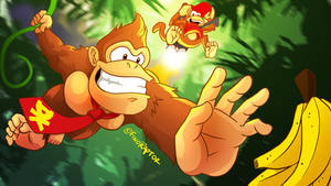Donkey Kong Country (Wallpaper) by FinoRaptor