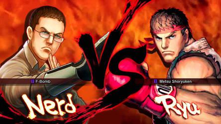 Nerd VS Ryu by jaimito