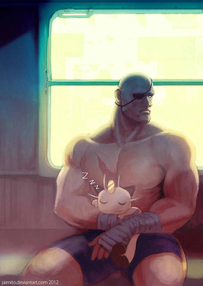 Sagat and his Meowth by jaimito