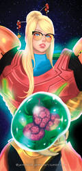 Samus and Metroid Bookmark by jaimito