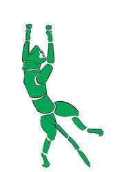Jumping robotic cougar logo by Jalinon