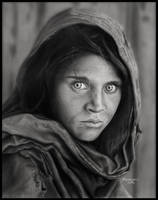 Sharbat Gula Drawing by Novastar2486