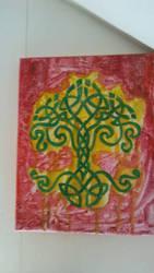 Cliche Hippie Celtic Tree WIP by Arokachikachaka