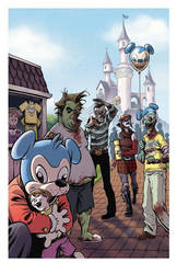 Zombie Dickheads Wondercon Print final by ChrisMoreno
