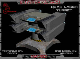 3D Quad Laser Turret Pic 02 by Grafix71