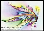 Mariposa arcoiris. by elyJHardy