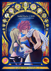 Natsu and Lucy by elyJHardy