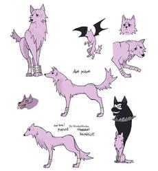 Crona Wolf Doodle by MushaMusha