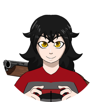Gamer Girl with a Shotgun by Nicooriia