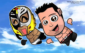 Rey Mysterio and Evan Bourne by kapaeme
