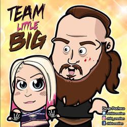 Alexa Bliss and Braun Strowman Chibi by kapaeme