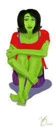 Not She-Hulk, but slightly is. by Jasika