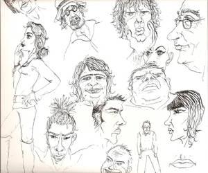 Ink doodles- September-ish 09 by Jasika