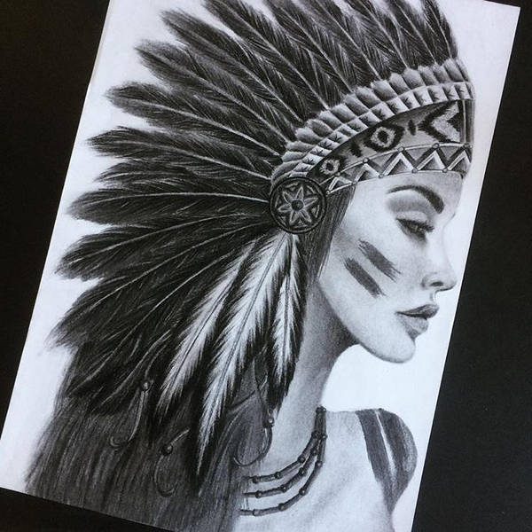 Native American Woman Tattoo Design By Reneevesters On Deviantart