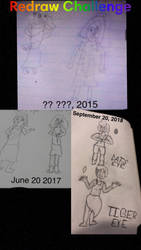 I did a redraw challenge! by GodlessThrone