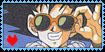 Goku stamp by Sonike by Planet-Vegeta-Club
