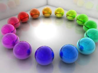 Rainbow balls by egresh