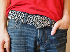 Wide Chainmaille Belt by ofmyhats
