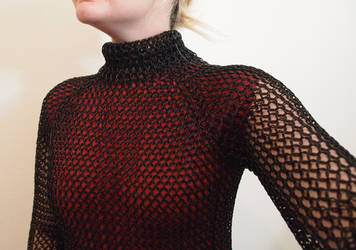 Black Chainmaille Turtleneck by ofmyhats
