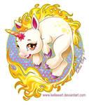 Fire Unicorn by KelleeArt
