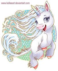 Wind Unicorn by KelleeArt