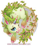 Earth Unicorn by KelleeArt