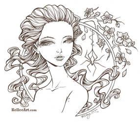 Frightening Beauty inks by KelleeArt