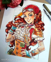 Steampunk Pirate Girl Commission by KelleeArt