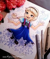 Young Elsa Commission by KelleeArt