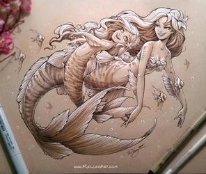 Mother and Daughter Mermaid 2 by KelleeArt