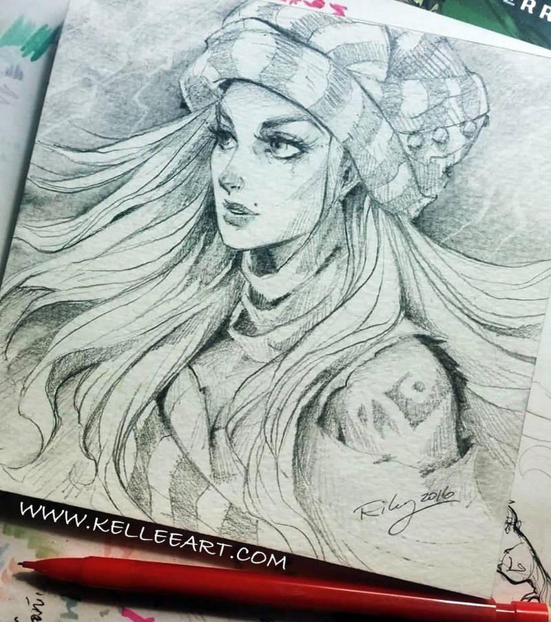 Desert girl by KelleeArt