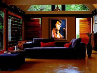 Elvis Lite Brite on Wall by dogeatdog5