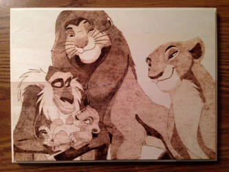 Lion King Family Wood Burning by jspinazzola