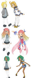 Magical girl designs by Silphy